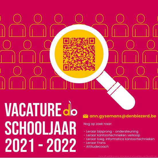 Vacatures schooljaar 2021